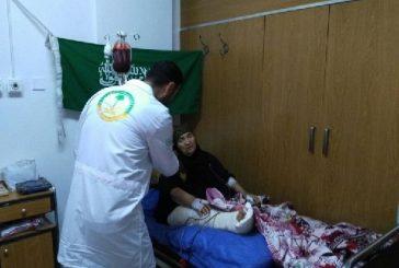 الحملة السعودية تتكفل بعلاج امرأة لاجئة تعاني من تلف وتقرحات في مفصل غضروفي