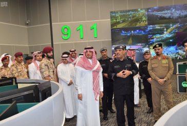 وزير الداخلية يتفقد مركز العمليات الأمنية الموحد بمنطقة مكة