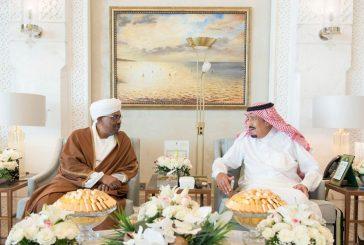 خادم الحرمين يستقبل رئيس جمهورية السودان