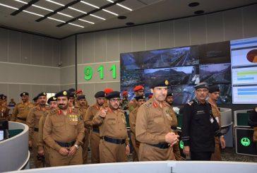 مدير عام الدفاع المدني يزور مركز عمليات ٩١١