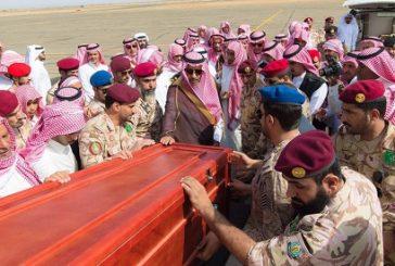 """بالصور..أمير الباحة في مقدمة مستقبلي جثمان الشهيد """"سفر الغامدي"""""""