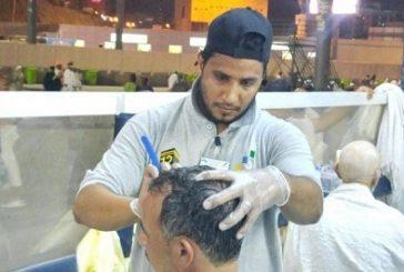 أكثر من 200 حلاق سعودي لتنفيذ نسك الحلق أو التقصير للحجاج