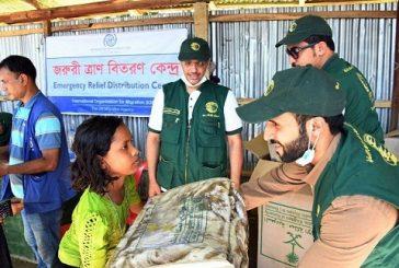 بالصور: «مركز الملك سلمان» يوزع مساعدات عاجلة بمخيمات الروهينجا