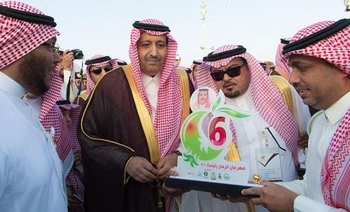 الأمير حسام بن سعود يفتتح مهرجان الرمان