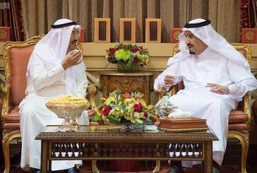 خادم الحرمين يستقبل أمير دولة الكويت ويقيم مأدبة غداء تكريماً لسموه