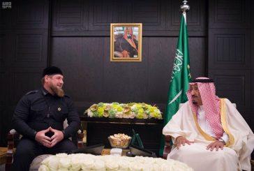 خادم الحرمين الشريفين يستقبل رئيس جمهورية الشيشان