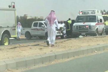 أربع إصابات في حادث سير بالباحة