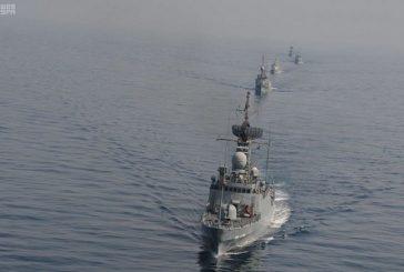"""انطلاق مناورات عسكرية سعودية بحرينية """"جسر 18"""" بمياه الخليج العربي"""