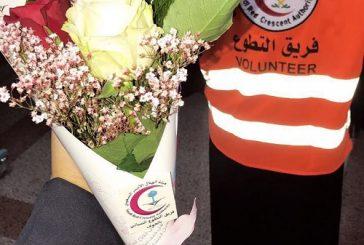 متطوعات الهلال الأحمر بالجوف يقمن بزيارة لمستشفى الأمير متعب بسكاكا