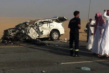 وفاة و4 إصابات في حادث تصادم بالباحة