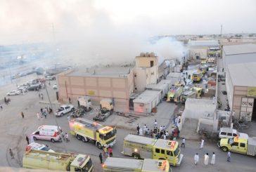 """مدني الدمام يسيطر على حريق صناعية """" دلة """""""