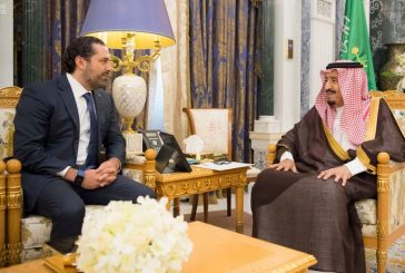 خادم الحرمين يستقبل دولة رئيس وزراء لبنان السابق