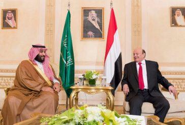 ولي العهد يلتقي رئيس الجمهورية اليمنية