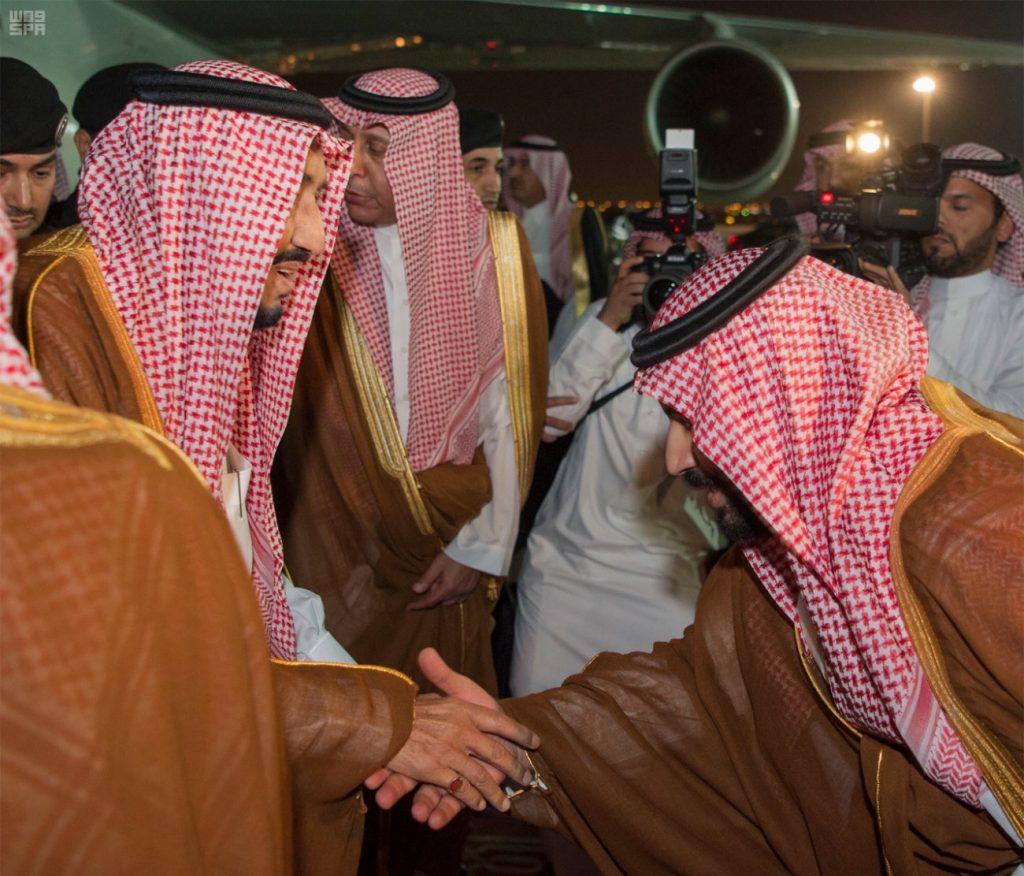 الملك يصل الرياض قادماً من المدينة المنورة (واس)