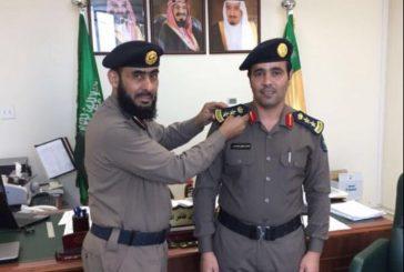 مدير إدارة الدفاع المدني بالجبيل يقلد العقيد ناصر الودعاني رتبته الجديدة