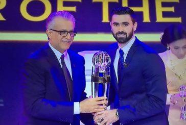 عمر خربين يُتوج بجائزة أفضل لاعب آسيوي