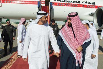 ولي العهد يستقبل الشيخ محمد بن زايد لدى وصوله الرياض