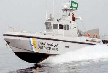 حرس الحدود يباشر حادث تصادم قارب صيد مع قاطرة بالخفجي