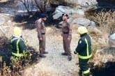الدفاع المدني بمنطقة الباحة يسيطر  على حريق بغابة خيره
