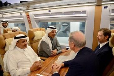 بالصور.. انطلاق أول رحلة تجريبية كاملة لقطار الحرمين من المدينة المنورة إلى مكة المكرمة