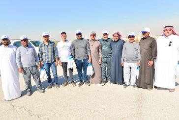 ضمن مبادرة وزارة البيئة عدد من الأهالي يغرسون  300 شجرة بغابة جواثا