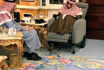 زيارة الملك سلمان لأخاه الأكبر الأمير بندر بالرياض