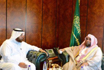 """""""الدويش""""يستقبل مدير فرع وزارة الشؤون الإسلامية بالشرقية"""