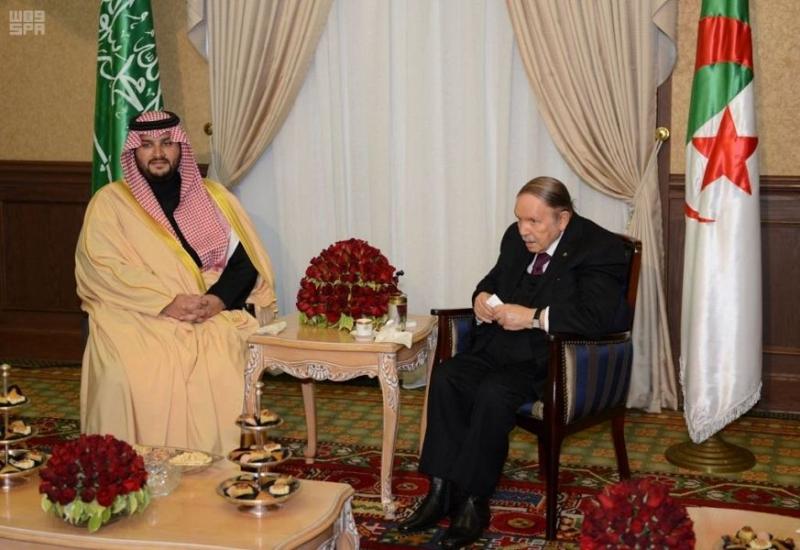 رئيس الجمهورية الجزائرية يستقبل الأمير تركي بن محمد بن فهد بن عبدالعزيز