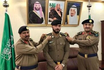 مدير الدفاع المدني بمنطقة الباحة يقلد عدد من الضباط رتبهم الجديدة