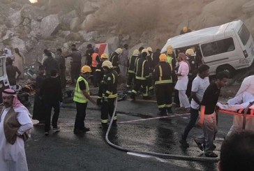 8 وفيات و7 إصابات في حادث سير بالباحة
