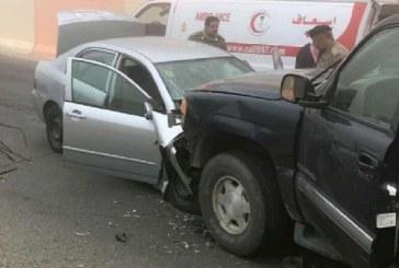 وفاة وسبع إصابات في حادث تصادم وانقلاب بمنطقة الباحة