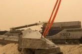 سقوط بلاطة جسر خرساني على قطار الرياض – الدمام