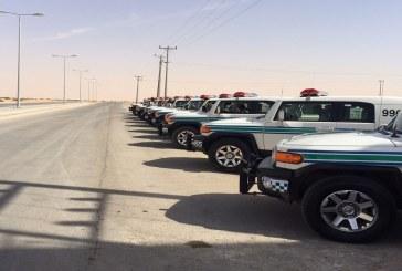 """قوات أمن الطرق الخاصة تغطي طريق """"الجشة – العقير"""" بالأحساء"""