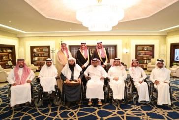 الأمير أحمد بن فهد يستقبل أعضاء مجلس إدارة جمعية سواعد للإعاقة الحركية