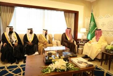 الأمير أحمد بن فهد يستقبل رئيس وأعضاء جمعية أيتام الجبيل