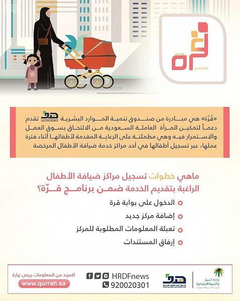 """9 آلاف سعودية تقدمن على برنامج دعم ضيافات الأطفال """"قرّة"""" ."""