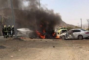 وفاة وثلاث إصابات في حادث سير بالباحة