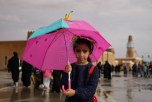 بالصور.. أمطار على القرية التراثية بالجنادرية