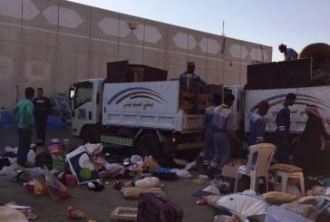 بلدية وسط الدمام ترفع 369 بسطة مخالفة في حراج الدمام