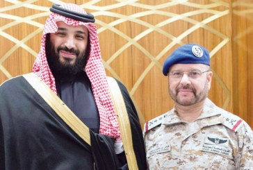 بالصور..ولي العهد يقلد القادة العسكريين المرقين رتبهم الجديدة