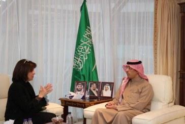 وزير الإعلام يستقبل رئيسة مجموعة الصداقة البرلمانية الفرنسية مع دول الخليج