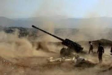 قصف مدفعي وجوّي يستهدف مواقع وتعزيزات المليشيات في الملاجم