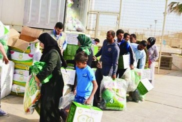 """""""مركز الملك سلمان"""" يواصل توزيع المساعدات لعائلات سورية في لبنان"""