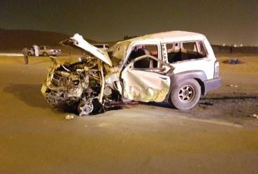 الهلال الأحمر بالقصيم  باشر 9 حالات في حادث سير