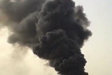 حريق يلتهم أحد شركات الجبيل