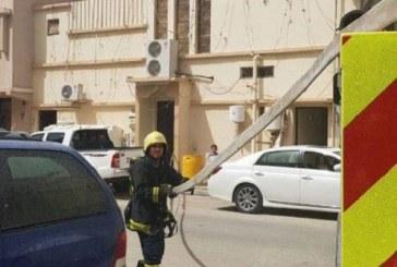 مدني الأحساء ينقذ 5 نساء وطفلة من حريق فى الساباط