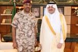 الأمير سعود بن نايف يقلد اللواء البريك رتبته الجديدة