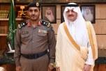 الأمير سعود بن نايف يقلد المري رتبة لواء