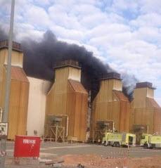 حريق ضخم بأحد توربينات شركة الكهرباء بحائل