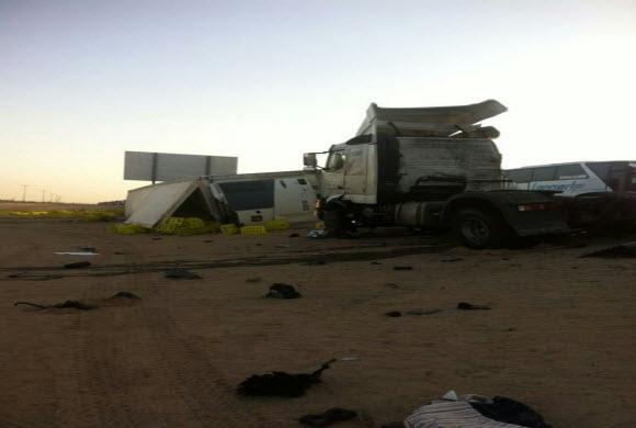 مصرع وإصابة 54 شخصاً في تصادم على طريق الرياض- الطائف